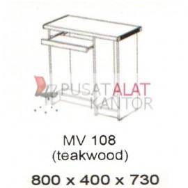 Meja Kantor Vips MV 108 (Computer Desk ) (Teakwood) w800 d400 h730
