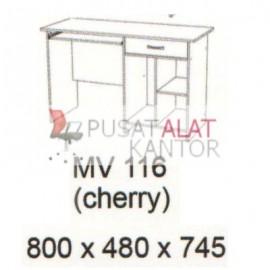 Meja Kantor Vips MV 116 (Computer Desk ) (Cherry) w800 d480 h745