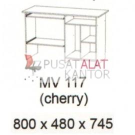 Meja Kantor Vips MV 117 (Computer Desk ) (Cherry) w800 d480 h745
