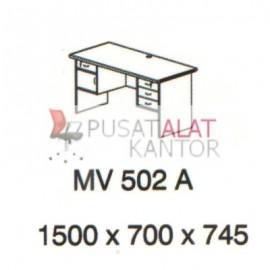 Meja Kantor Vips MV 502 A (Office Desk ) w1500 d700 h745